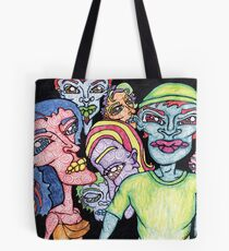 Brightly Colored Group of People Tote Bag