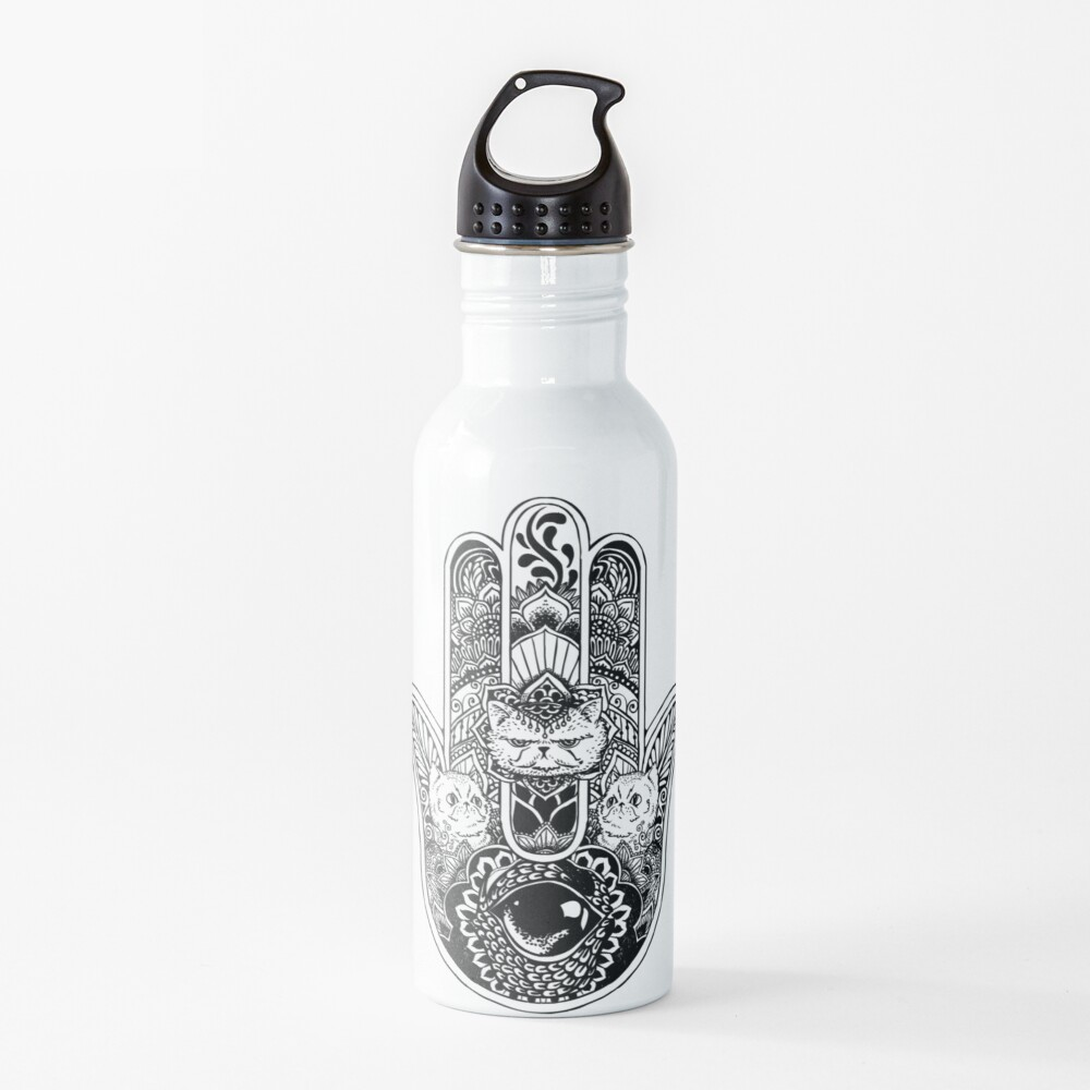Hamsa Hand Persian Cat Water Bottle