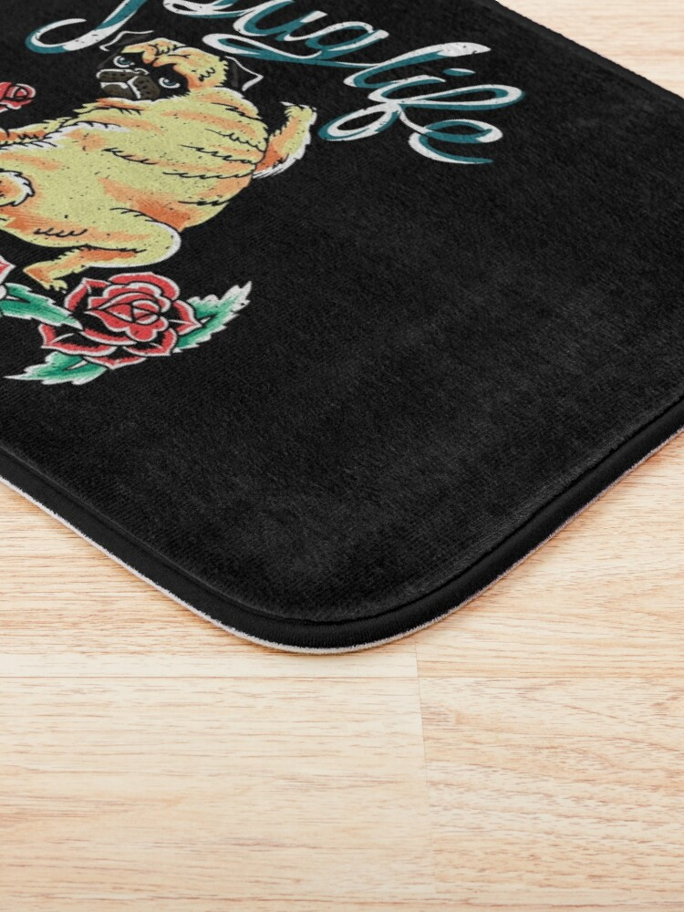 Alternate view of Puglife Tattoo Bath Mat