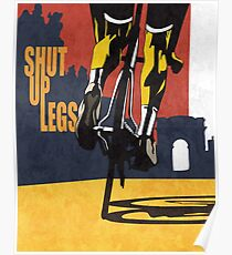 Retro-Stil Tour de France Fahrrad Illustration Poster drucken: SHUT UP LEGS Poster