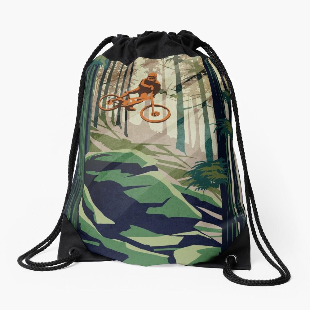 MY THERAPY: Mountain Bike! Drawstring Bag