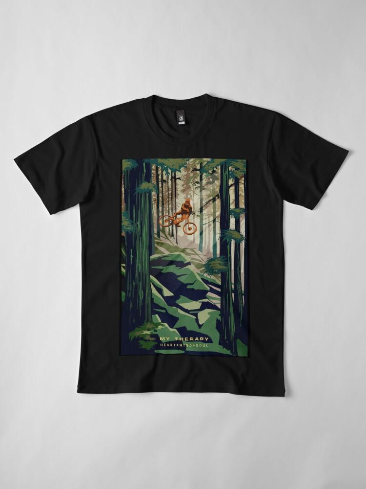 Alternate view of MY THERAPY: Mountain Bike! Premium T-Shirt