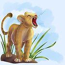 Lion Cub ROAR by Unicornarama