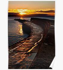 Golden sunrise over Lyme Regis Cobb Poster