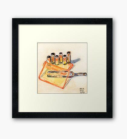 Pipe And Fork Framed Print