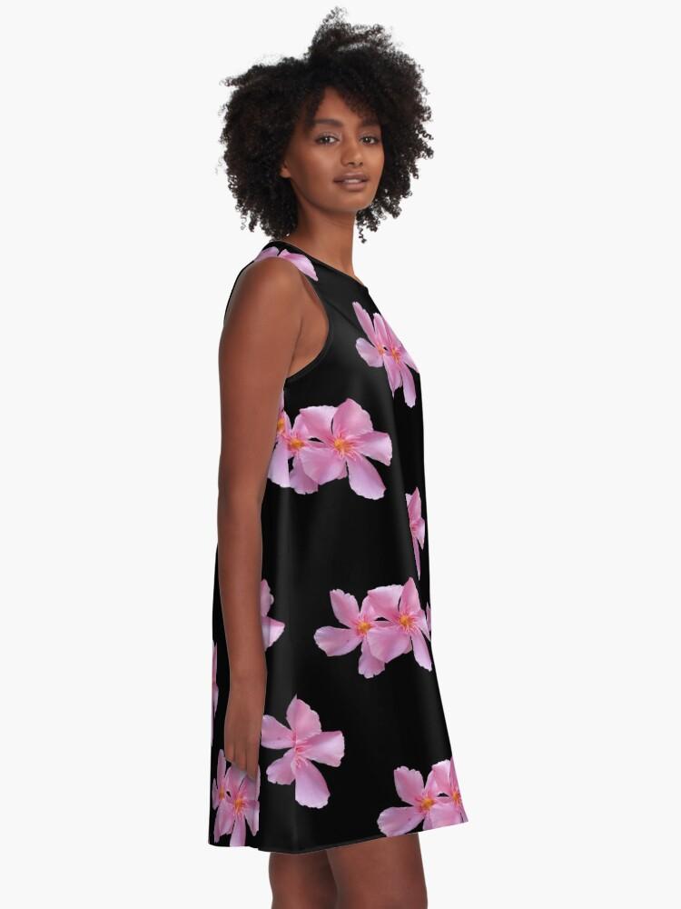 Alternative Ansicht von einzigartige, blühende pinke Blumen, Blüten,  A-Linien Kleid