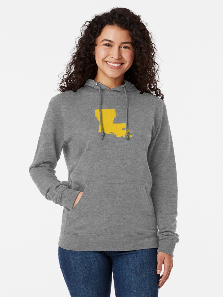 Alternate view of Louisiana Gold Lightweight Hoodie