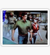 Chris and Claire Redfield. Sticker