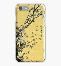 'Flowering Plum' by Katsushika Hokusai (Reproduction) iPhone Case/Skin