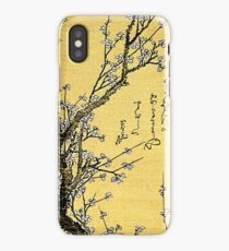 'Flowering Plum' by Katsushika Hokusai (Reproduction) iPhone Case