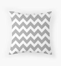 Grey Chevron Throw Pillow