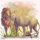 Loving Lions by Unicornarama