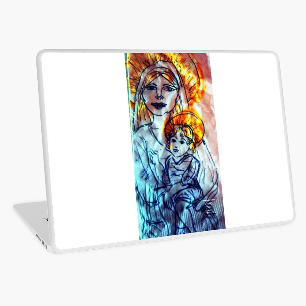 Madonna and Child Laptop Skin