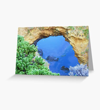 Great Ocean Road Blue Grotto # 1 Greeting Card