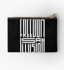 freedom is an illusion Zipper Pouch
