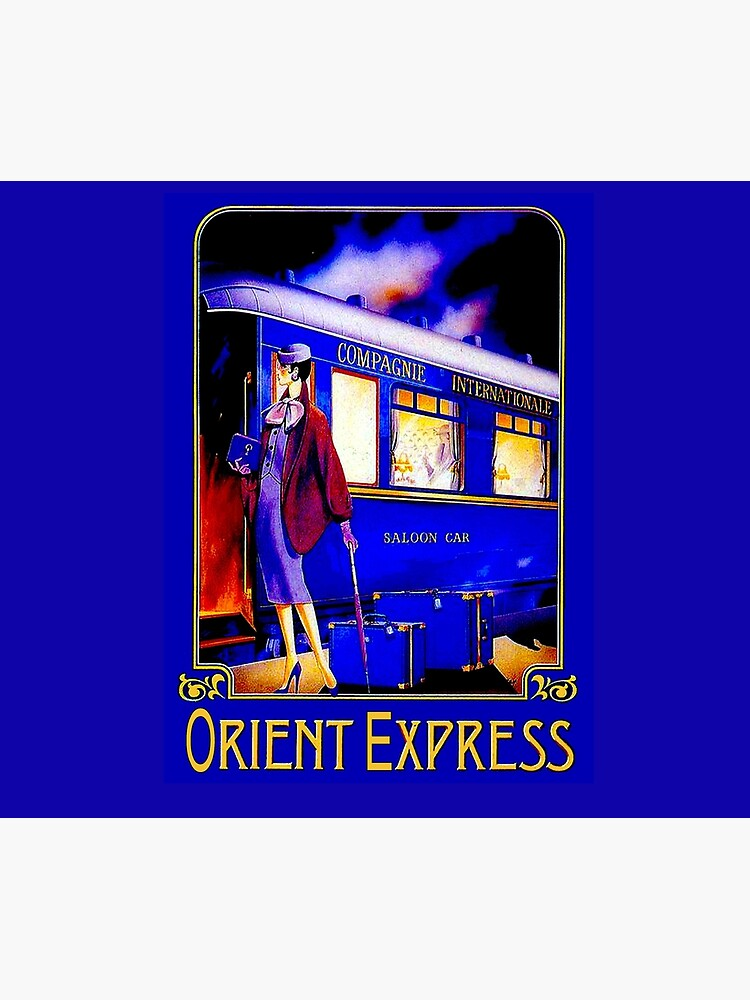 ORIENT EXPRESS: Vintage Train Passenger Travel Print by posterbobs
