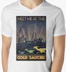 Final Fantasy VII Gold Saucer Travel Poster Men's V-Neck T-Shirt