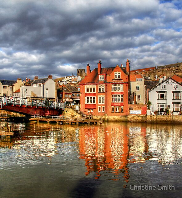 Reflections of Whitby in the River Esk by Christine Smith