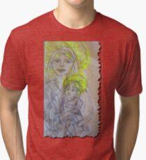 Camiseta de tejido mixto Madonna and Child 2