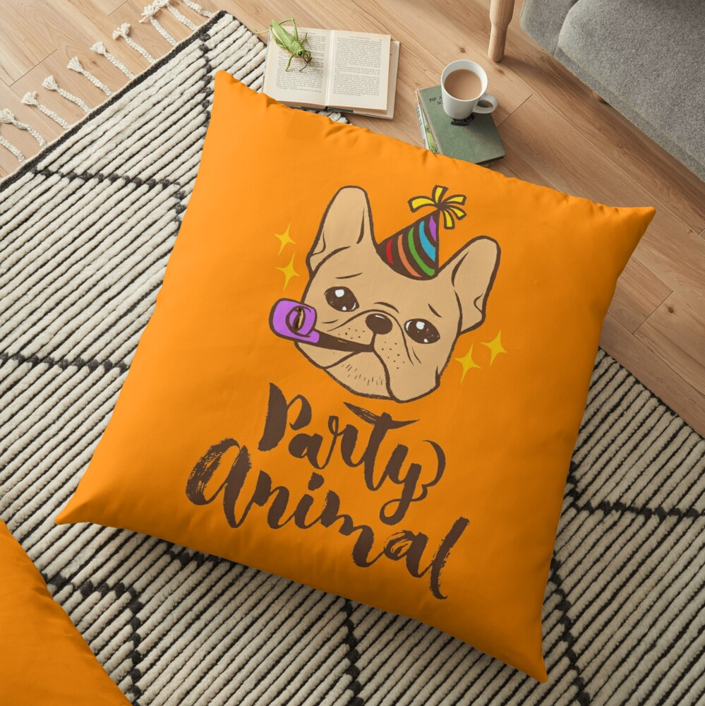 Party Animal Floor Pillow