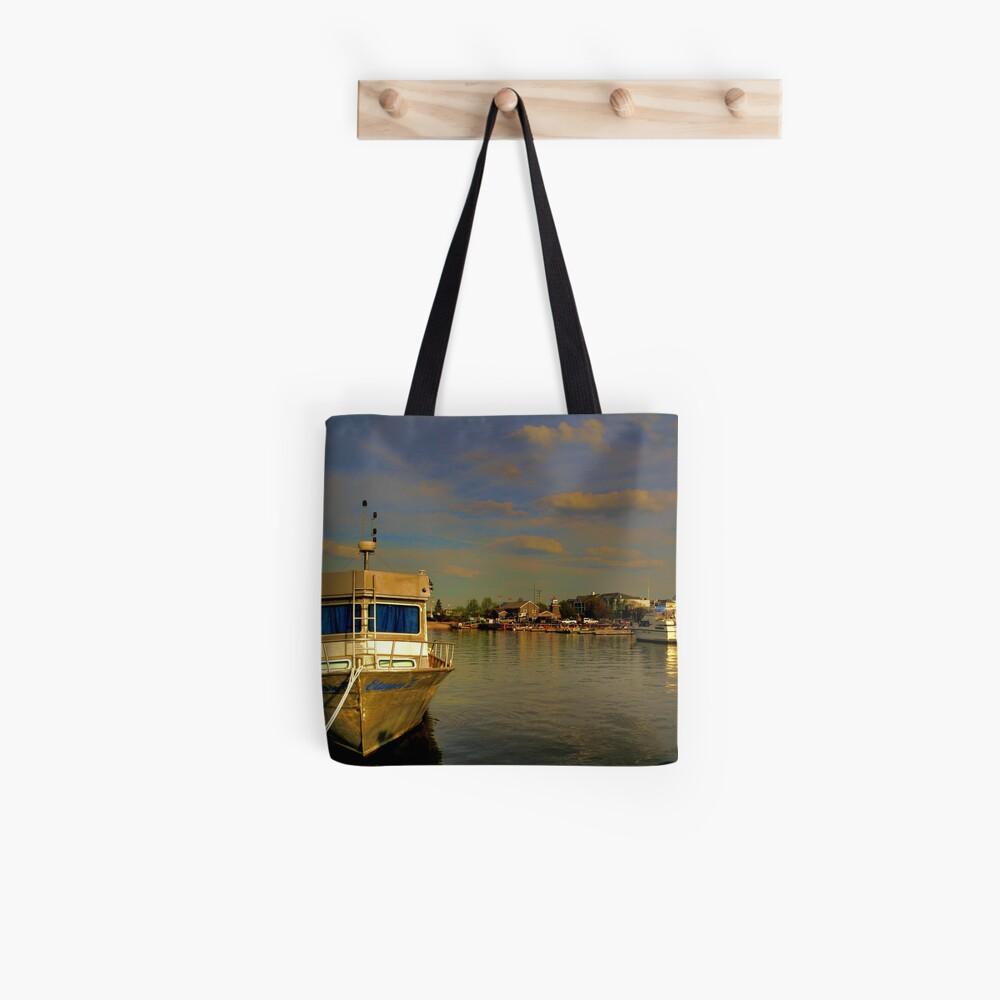 Hafen bei Gimli Stofftasche