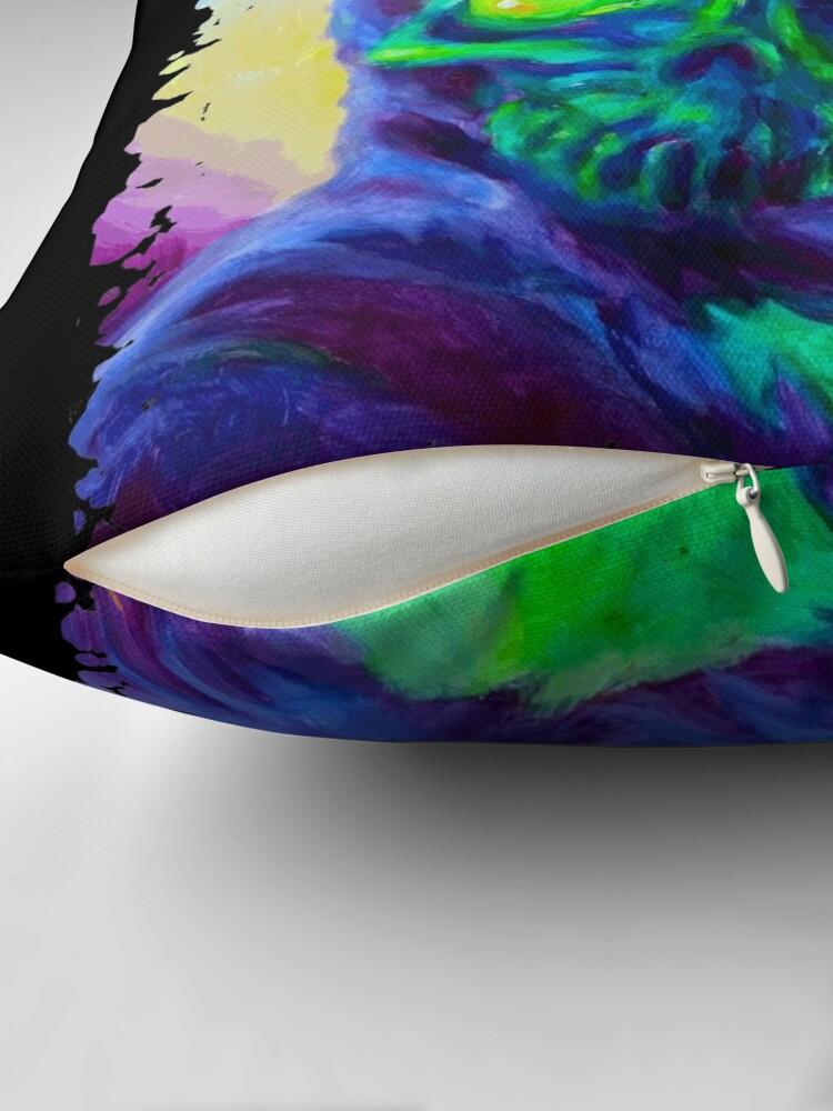 Alternate view of Burn His House Down Acrylic Painting Throw Pillow