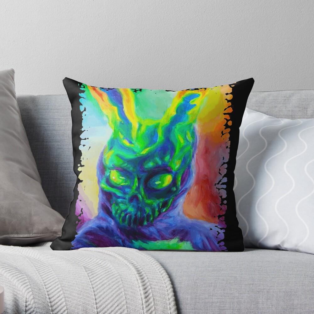 Burn His House Down Acrylic Painting Throw Pillow