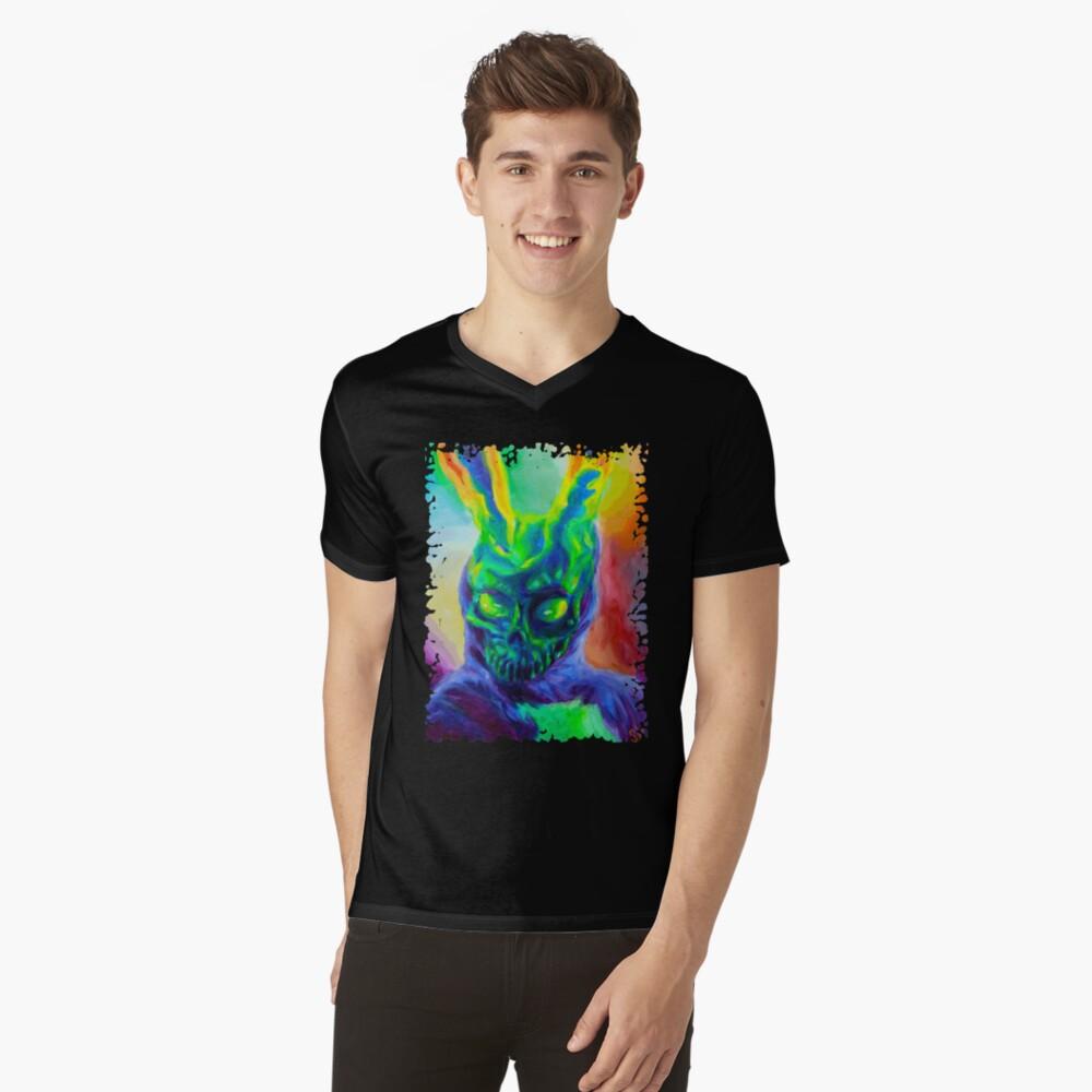 Burn His House Down Acrylic Painting V-Neck T-Shirt