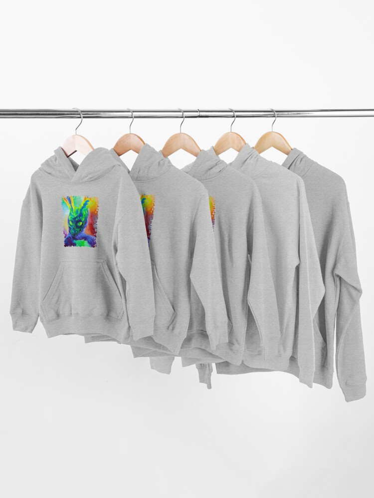 Alternate view of Burn His House Down Acrylic Painting Kids Pullover Hoodie