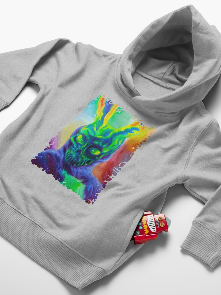 Alternate view of Burn His House Down Acrylic Painting Toddler Pullover Hoodie