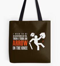 Arrow in the Knee Tote Bag