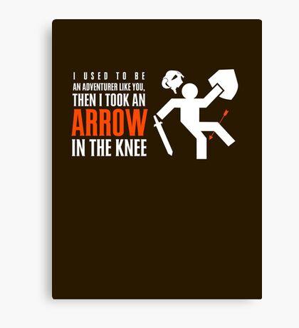 Arrow in the Knee Canvas Print