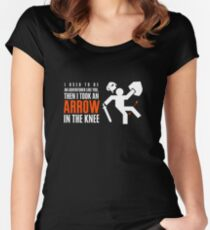 Arrow in the Knee Women's Fitted Scoop T-Shirt