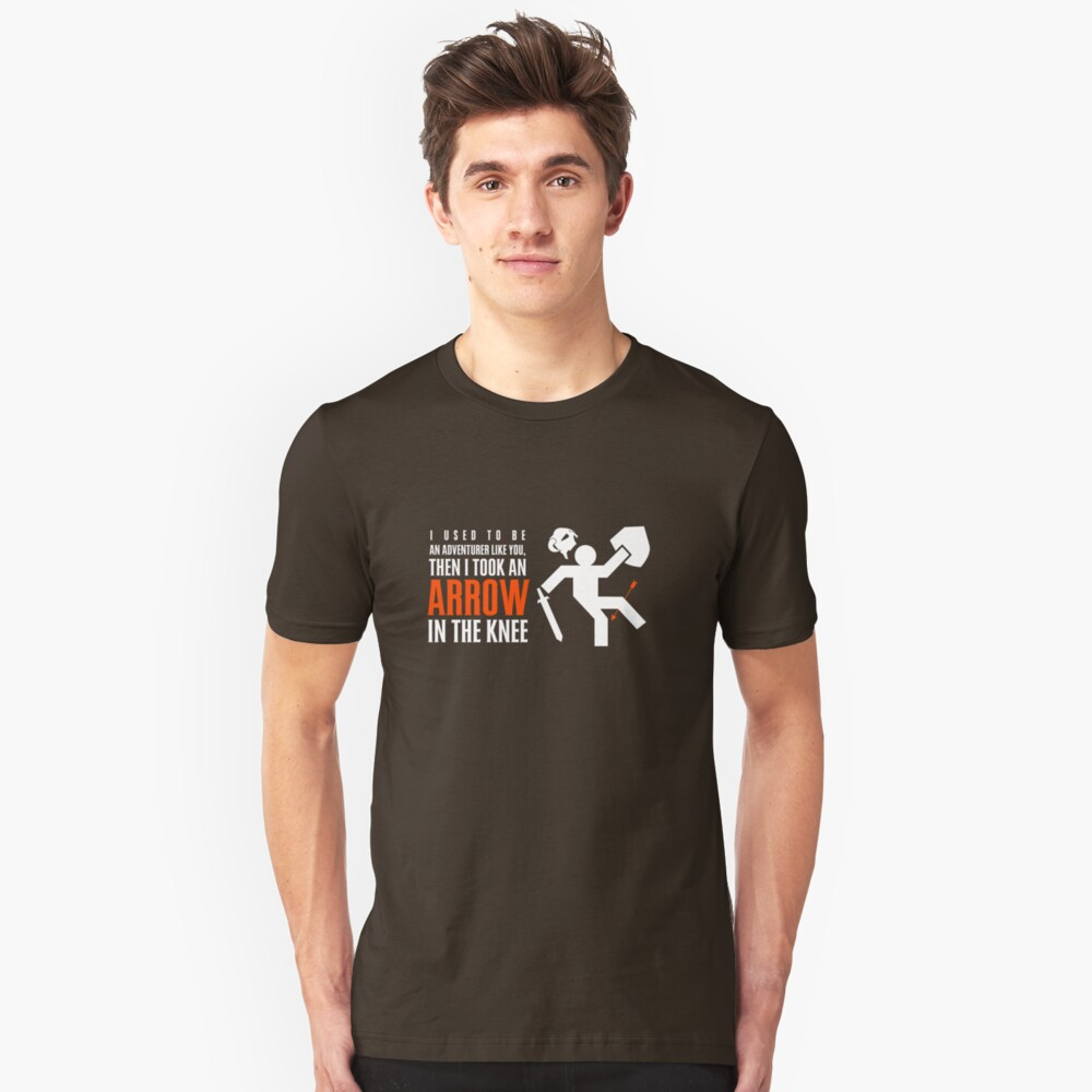 Arrow in the Knee Unisex T-Shirt Front
