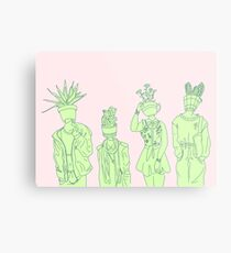 Plant People Metal Print