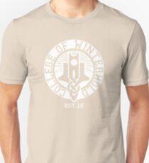 College of Winterhold Est. 1E (white) Unisex T-Shirt