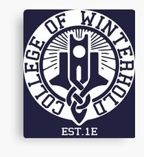 College of Winterhold Est. 1E (white) Canvas Print