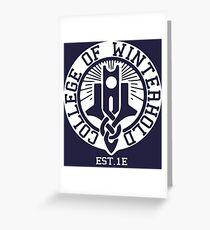 College of Winterhold Est. 1E (white) Greeting Card