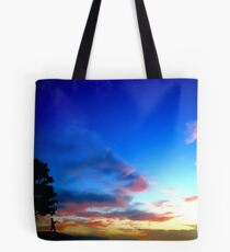 Chasing butterflies against a summer sunset Tote Bag