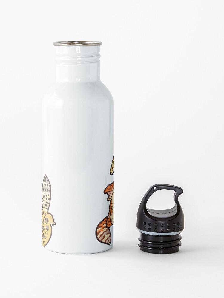 Alternate view of chub gecko babies Water Bottle