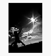 My son  the Karate Kid  Photographic Print
