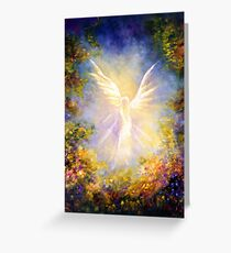 """Angel Descending"" Greeting Card"