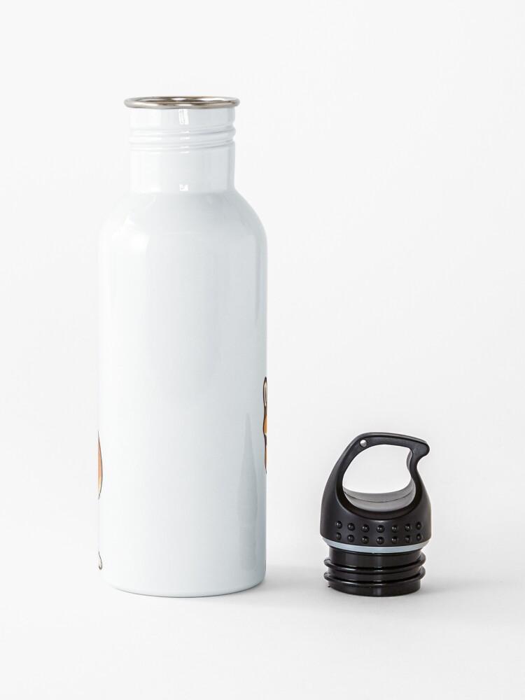 Alternate view of Jolly corgis in green Water Bottle