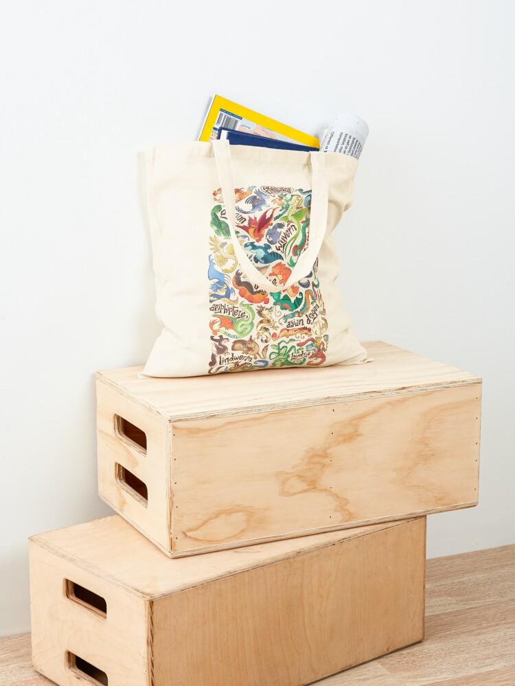 Alternate view of Mini dragon compendium  Tote Bag