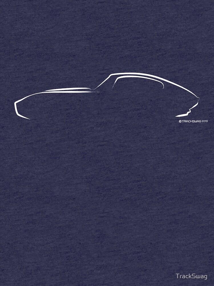 Profile Silhouette E type - white by TrackSwag