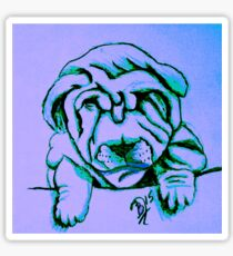 Shar Pei drawing sketch Sticker