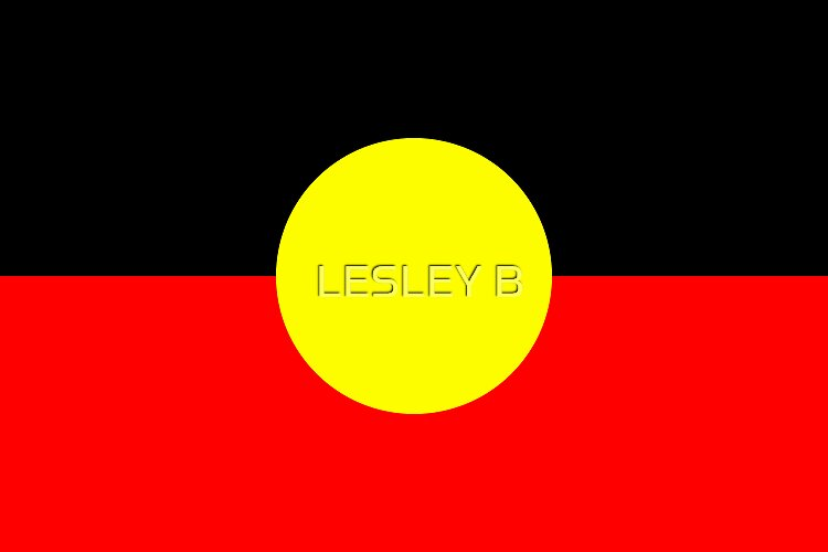 Aboriginal Flag   (AUSTRALIA) by LESLEY BUtler