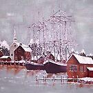 Winter Harbor in Maine by Kate Eller
