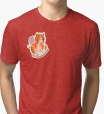 Mandy Fox Girl Tri-blend T-Shirt