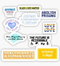 Human Rights Stickers Alt. Sticker